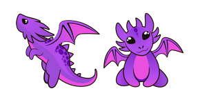 Purple Baby Dragon Cursor