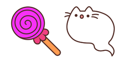 Ghost Pusheen and Candy Cursor