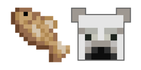 Minecraft Cod Fish and Polar Bear Cursor