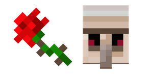 Minecraft Rose and Iron Golem Curseur
