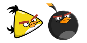 Курсор Angry Birds Chuck and Bomb