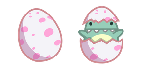 Cute Dino Baby in Egg Curseur