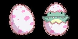 Cute Dino Baby in Egg Curseur