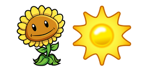 Plants vs. Zombies Sunflower and Sun Cursor