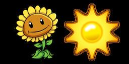 Plants vs. Zombies Sunflower and Sun Cursor