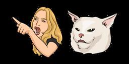 Woman Yelling at a Cat Meme Curseur