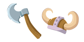 Viking Axe and Helmet Cursor