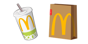 McDonald's Cola and Package Curseur