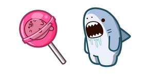 Cute Shark and Lollipop Cursor