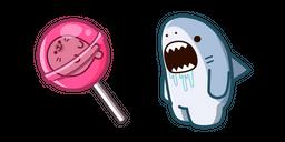 Cute Shark and Lollipop Curseur