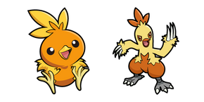 Pokemon Torchic and Combusken Curseur