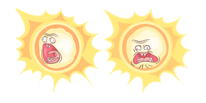 Rick and Morty Screaming Sun Cursor