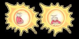 Rick and Morty Screaming Sun Cursor