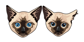 Siamese Cat and Kitten Cursor