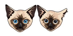 Siamese Cat and Kitten Curseur