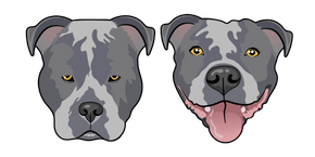Blue Pitbull Dog Curseur
