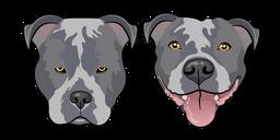 Blue Pitbull Dog Cursor