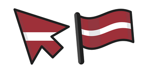 Latvia Flag Curseur