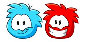 Club Penguin Blue and Red Puffles Cursor