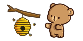 Milk & Mocha Mocha Bear and Beehive Cursor
