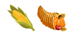 Thanksgiving Day Corn and Cornucopia Cursor