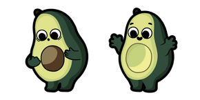 Cute Avocado Curseur