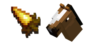 Minecraft Golden Carrot and Horse Cursor