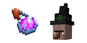 Minecraft Splash Potion and Witch Cursor