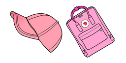 VSCO Girl Cap and Kanken Backpack Curseur