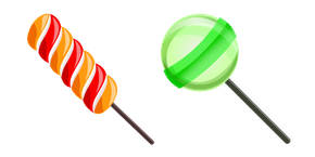 Twist Lollipop and Green Lollipop Curseur