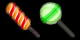Twist Lollipop and Green Lollipop Cursor