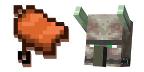 Minecraft Saddle and Ravager Cursor