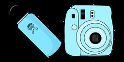 VSCO Girl Water Bottle and Film Camera Curseur