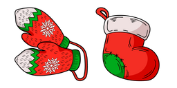 Christmas Mittens and Stocking Cursor