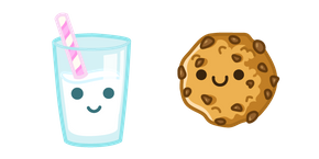 Cute Milk and Cookie