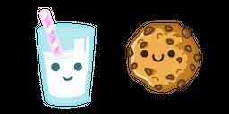 Cute Milk and Cookie Cursor