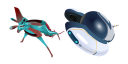 Subnautica Reaper Leviathan and Seamoth Curseur