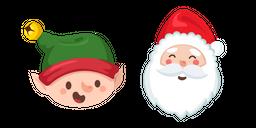Christmas Elf and Santa Claus Curseur