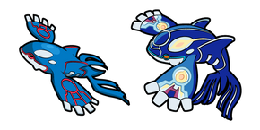 Pokemon Kyogre and Primal Kyogre Curseur