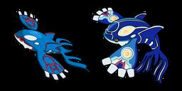Pokemon Kyogre and Primal Kyogre Curseur