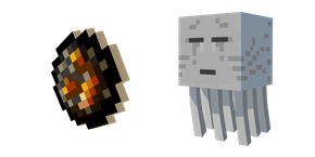 Minecraft Fireball and Ghast Cursor