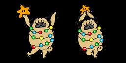 Cute Christmas Tree Pug Curseur