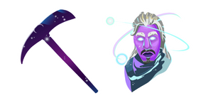 Fortnite Galaxy Skin Stellar Axe Cursor
