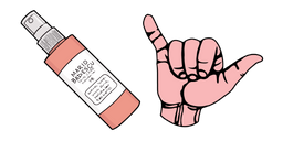 VSCO Girl Hand Spray and Hang Loose Hand Curseur