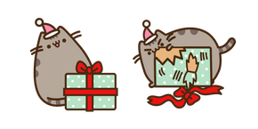 Курсор Pusheen with Christmas Present