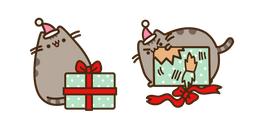Pusheen with Christmas Present Curseur