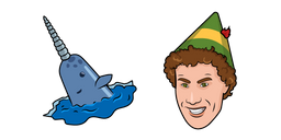 Elf and Mr Narwhal Curseur