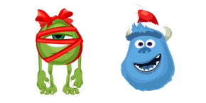 Monsters Inc. Christmas Wazowski and Sulley Cursor