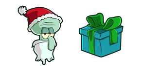 Курсор Squidward Santa