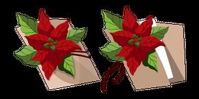 Christmas Wish List with Poinsettia Curseur